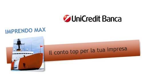 Il Conto Imprendo offerto da Unicredit