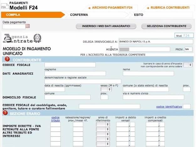 Pagamento F24 con codice identificativo | ING