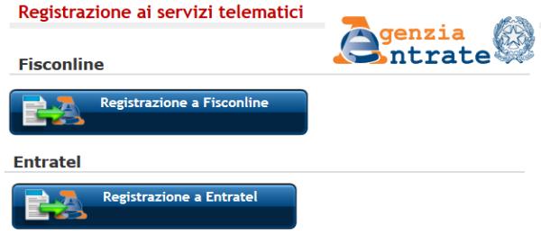 Registrazione Fisconline per Compensazione Crediti F24 1