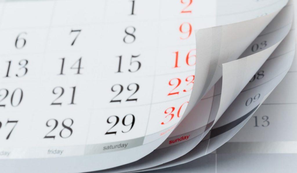 Calendario scadenze 2018