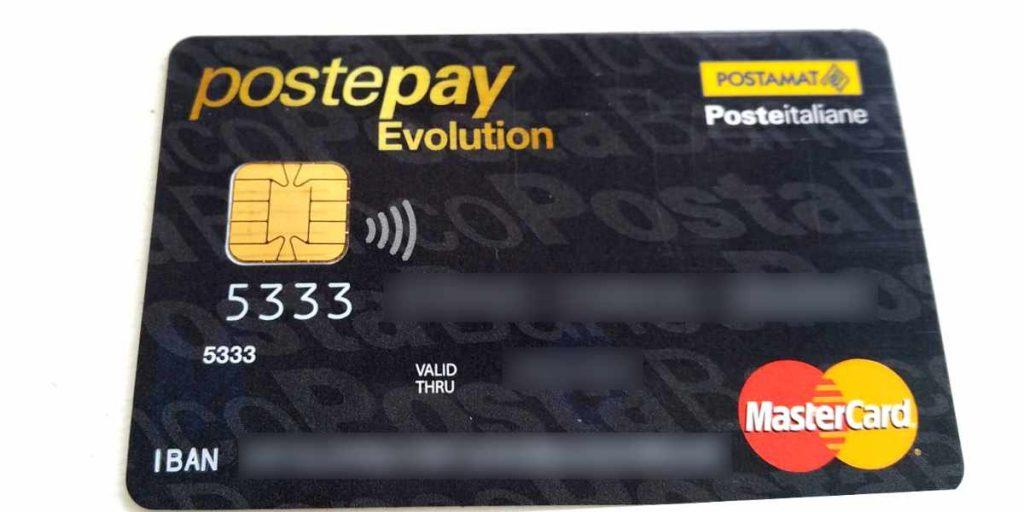 Postepay Evolution saldo on line e lista movimenti