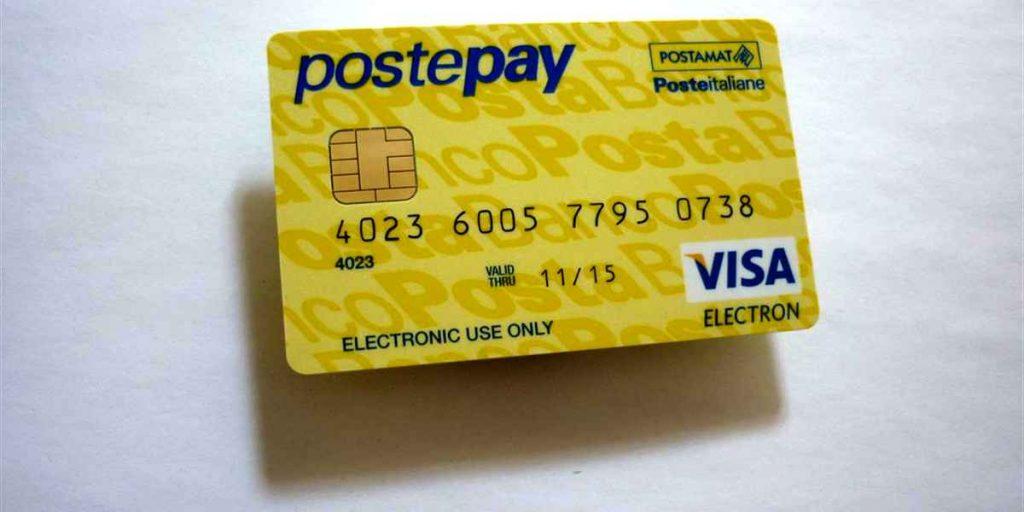Tipologia di carte PostePay