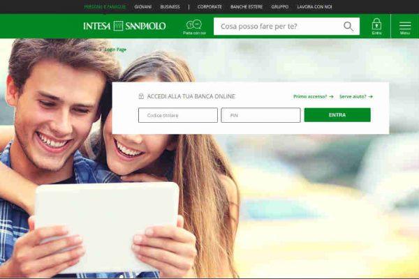 Home Banking Intesa SanPaolo accesso clienti