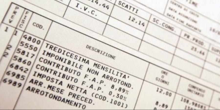 tasse lavoro sulla busta paga