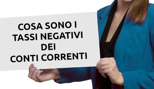 tassi negativi conto corrente